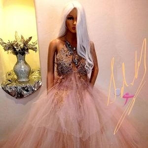 """""""ANNABELLA"""" Blush AB Crystal Wedding Ballgown Set"""